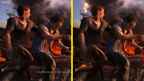 Uncharted 4 PS4 Pro vs PS4 4K Graphics Comparison - YouTube