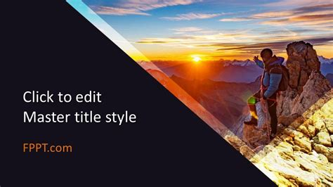 Free Mountaineering PowerPoint Template - Free PowerPoint