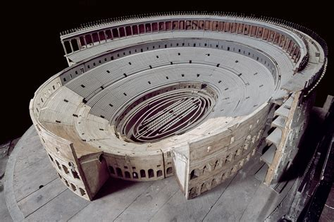 Carlo Lucangeli's wooden model of the Colosseum - Parco