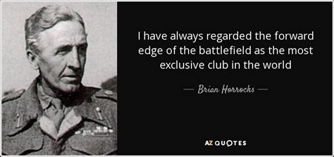 Brian Horrocks quote: I have always regarded the forward
