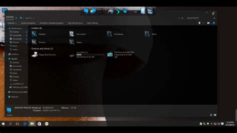 """Dark Glass Theme for Windows 10 """"Build 10240 ONLY"""" (All"""