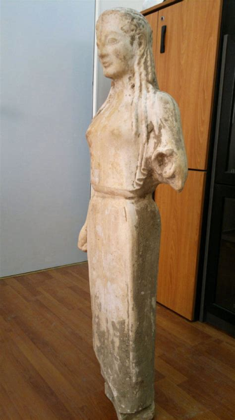 Priceless ancient Greek statue rescued from goat-pen