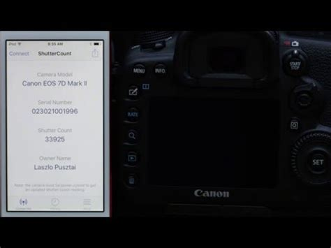 ShutterCount Mobile with Canon EOS 7D Mark II - YouTube
