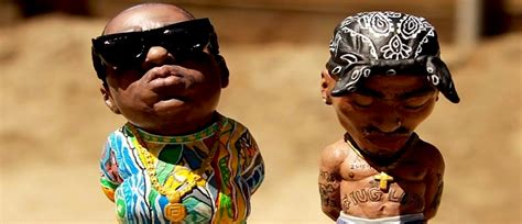 Custom Hand-Painted Sculptures of Tupac and Biggie Smalls